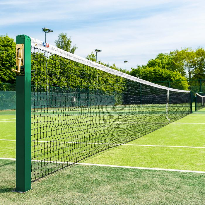 3.5mm Braided Twine Tennis Net | ITF Approved Headband | Net World Sports