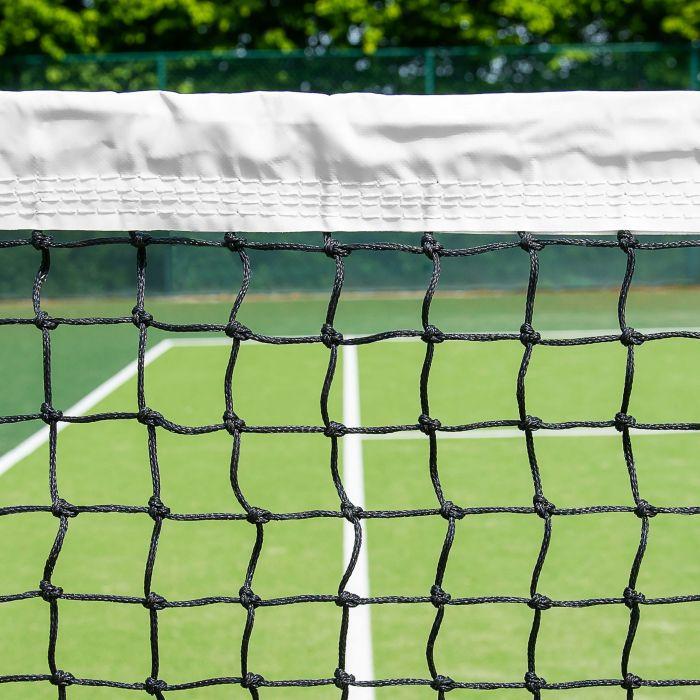 Professional 3.5mm Tennis Net | Quad-Stitched Vinyl Coated Headband | Net World Sports