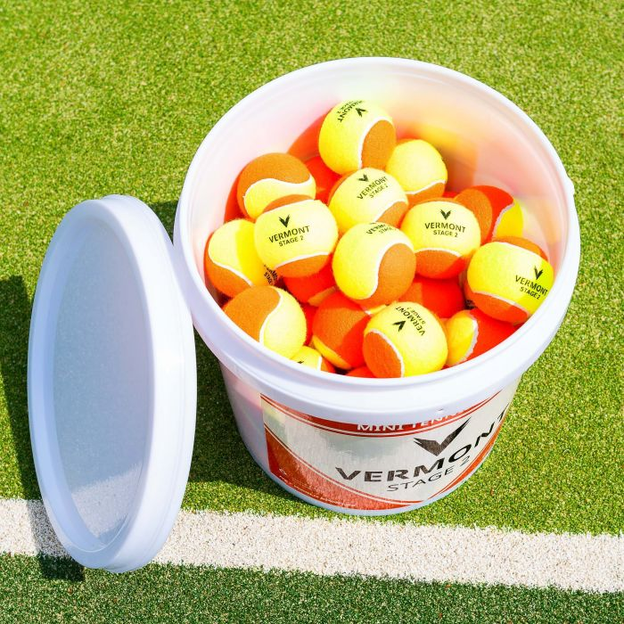 Vermont Mini Orange Tennis Balls | Stage 2 | Play On Any Court Surface | Net World Sports