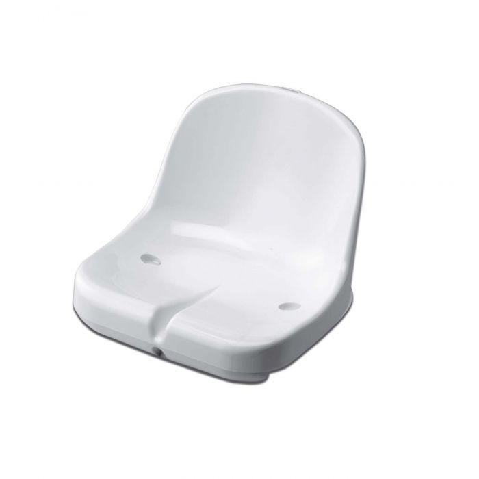 White Moulded HDPP Seats for Sports Dugout & Shelters | Net World Sports