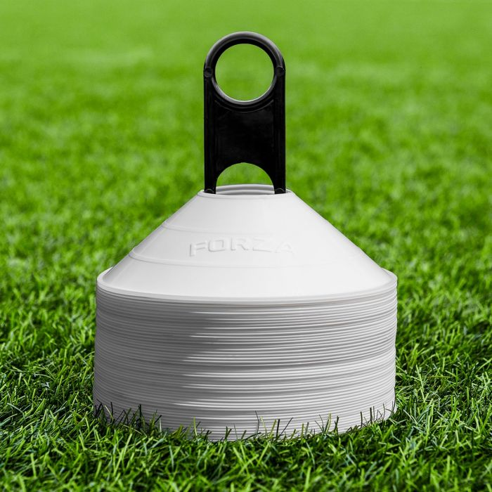 White American Football Training Marker Cones