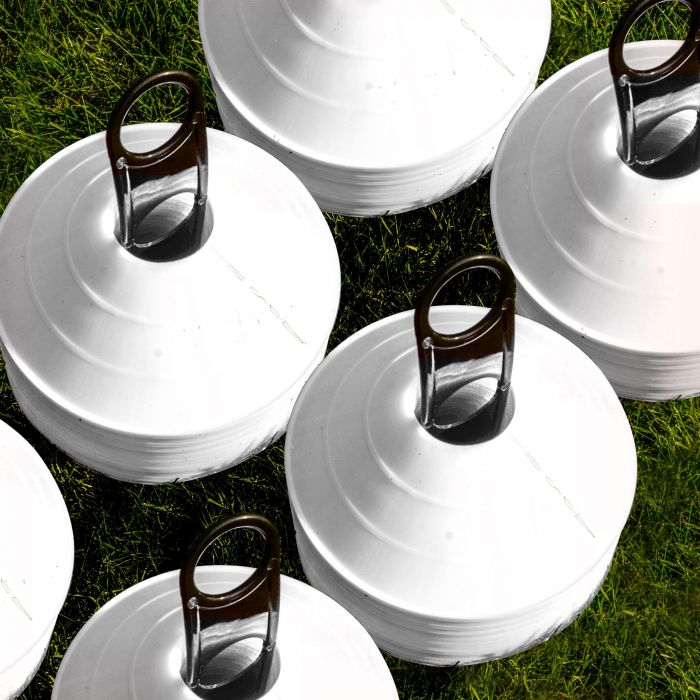 White Aussie Rules Football Cones