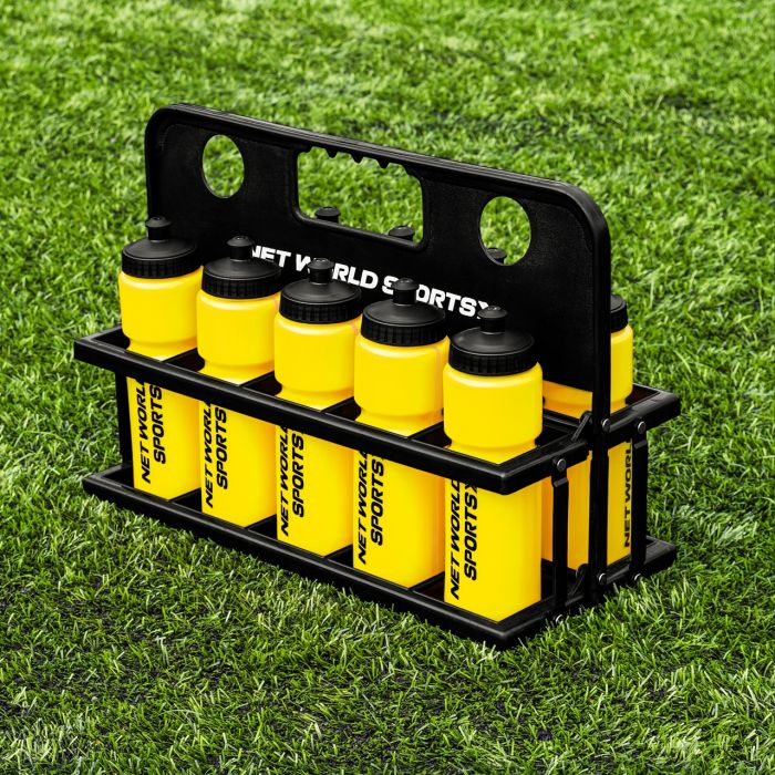 Yellow Pack Of 10 Water Bottles And Carrier