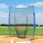Baseball Nets And Pitching Screens | Steel Base With Fiberglass Net Supports | Net World Sports