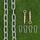 M8 Wall Bolts, Chains And Snap hooks