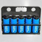 10 Blue Hockey Bottles & Carrier