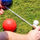 Bocce Pallino With Tape Measure