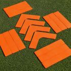 16x High-Visibility Rubber Tennis Court Lines | Net World Sports
