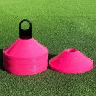 High Visibility Fluro Pink Training Cones For Tennis Coaches