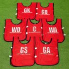 Netball Bibs With Clear Lettering | Net World Sports