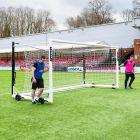 18.5ft x 6.5ft Stadium Box Football Goal For Juniors