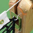 Professional Wooden Tennis Posts With Tennis Net Hooks | Net World Sports
