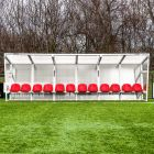 Red Aluminum Sports Team Shelter