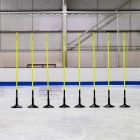 5ft or 6ft Spring Loaded Ice Hockey Slalom Poles