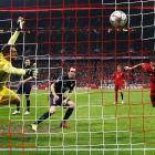 Red & White Striped Stadium Football Nets - Stadium Soccer Nets