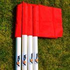 UEFA 50mm Pro Corner Pole & Flag with Ground Sleeve (Set of 4)