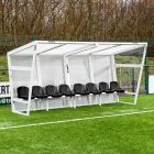 8 Seater Team Bench & Shelter For Sports Teams