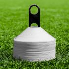 White Rugby Training Cones  With Cone Stand