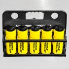 10 Yellow Hockey Bottles & Carrier